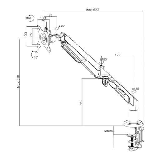 Type D Desktop Monitor Arm
