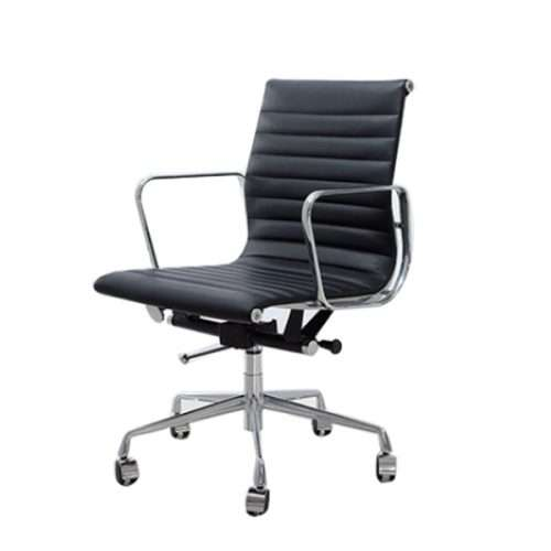 Aries Mid Back Leather Chair Singapore