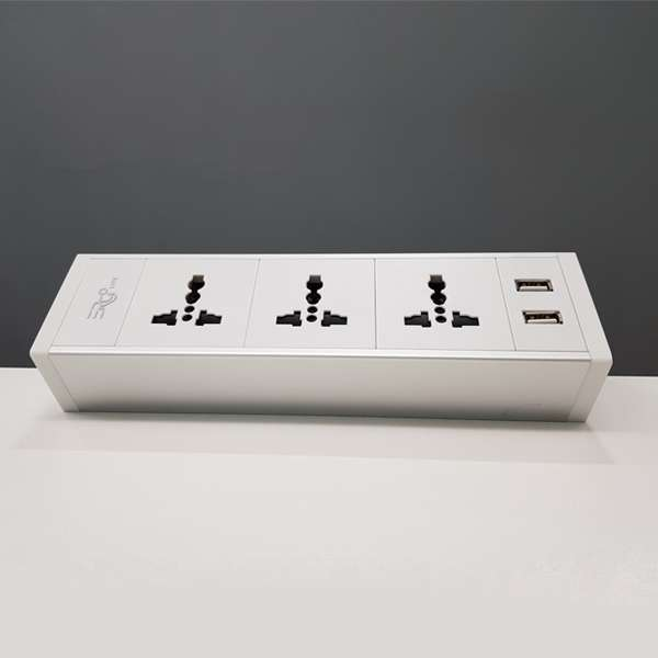 ErgoLife Power Rail Netbox CK06 - 3 Powerpoints & 2 USB Ports
