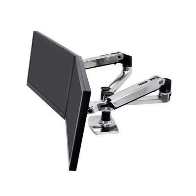Ergotron LX Dual Side-By-Side Arm (Clamp/Grommet)