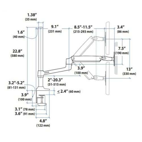 LX Dual Stacking Arm Tall Pole