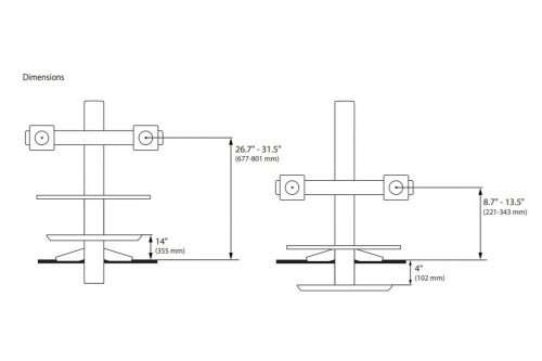 WorkFit S Dual Workstation