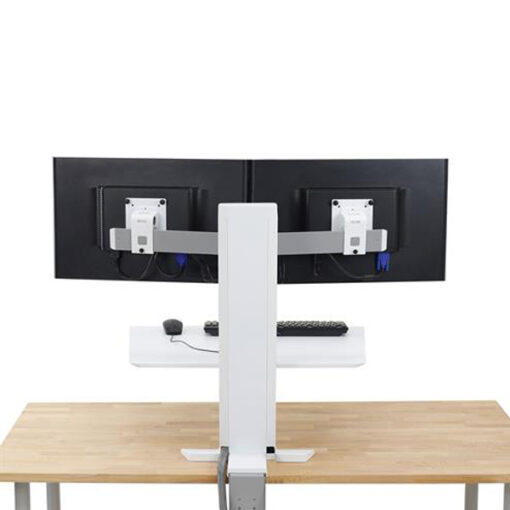WorkFit SR Dual Monitor Sit-Stand Desktop Workstation
