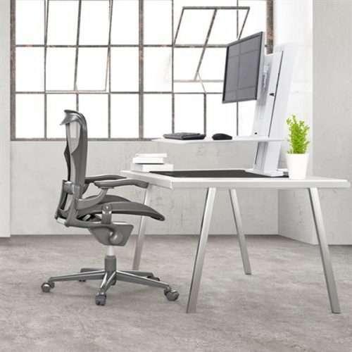 WorkFit SR Dual Monitor Sit-Stand Desktop Workstation