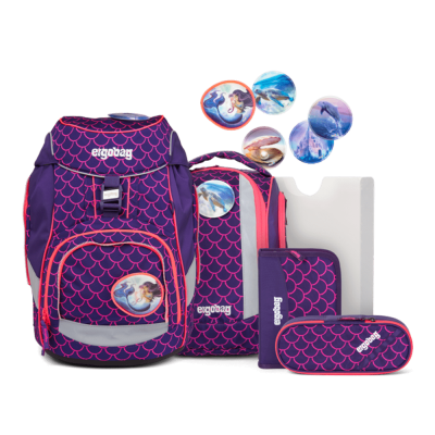 ergobag Pack School Backpack Set Pearl DiveBear