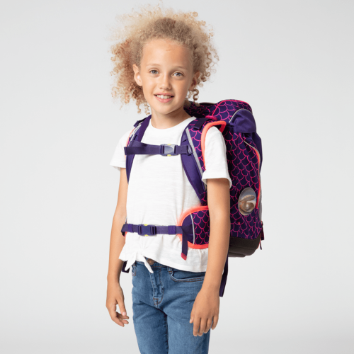 Ergobag Pack School Backpack Set Pearl DiveBear