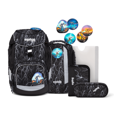 ergobag Pack School Backpack Set Super ReflectBear Glow