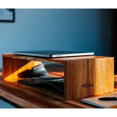 Solid Wood Monitor Riser (Angsana/Mahogany/Mixed Wood)
